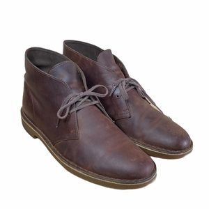 MEN'S CLARKS BROWN LEATHER SHOES